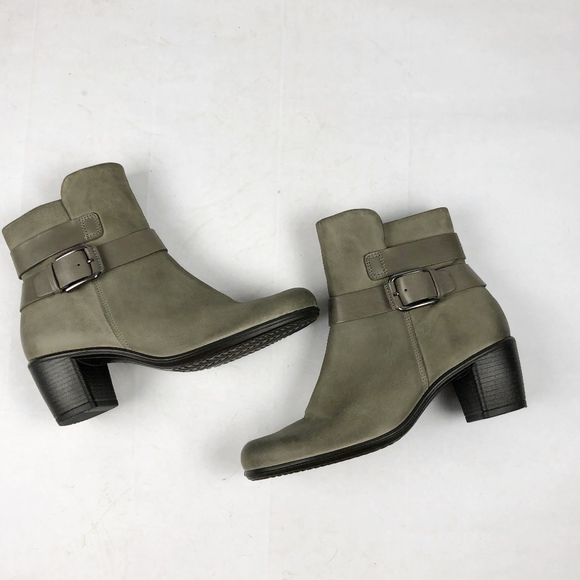 ECCO Touch 15 Mid Cut Bootie Moon Rock 9 9.5